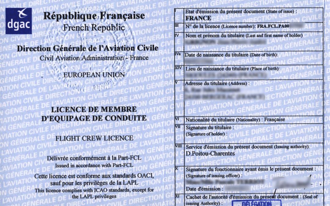 Prorogation automatique des qualifications, mentions, visites médicales et examens d'anglais apposées aux licences privées